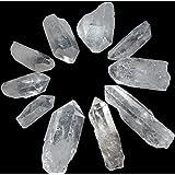 """Cristal de Cuarzo Varas Puntos 1.5"""" - 2"""" Cuadrícula Juego de 10"""