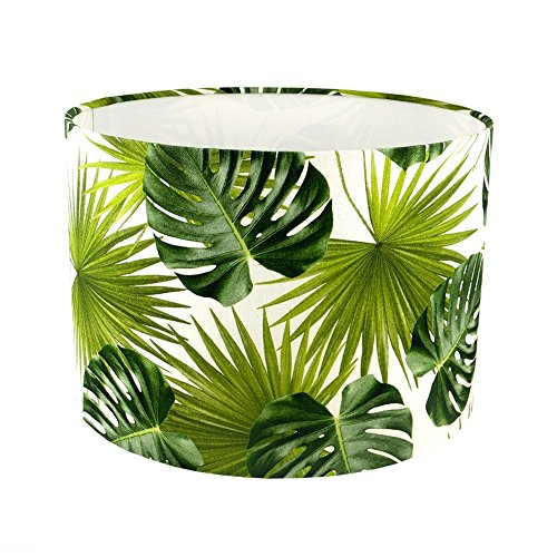 palm-leaves-fabric-drum-lampshade-handmade