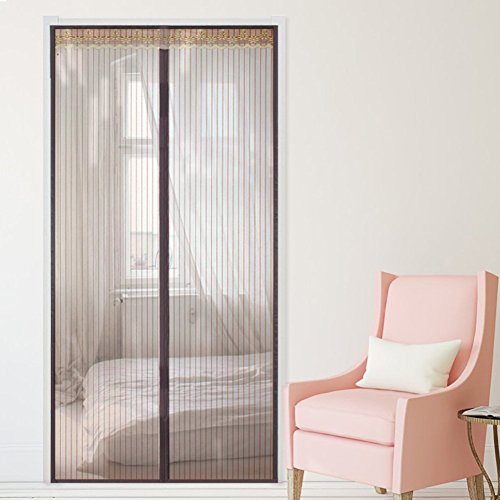 Eqeq silent,alta denisity,anti-zanzara,la tenda a strisce cortina di filato/soggiorno,camera,cucina,finestra a tendina a 130x200cm(51x79pollici)