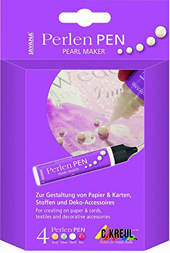 Javana 92320 - Perlen Pen Set, 29 ml, 4-farbig (Perlen-maker)
