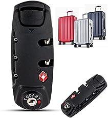 Shomy 8.3 * 3.1cm 3 Digit Combination Padlock TSA Lock Luggage Suitcase Travel Bag Code Lock Black Combination Lock