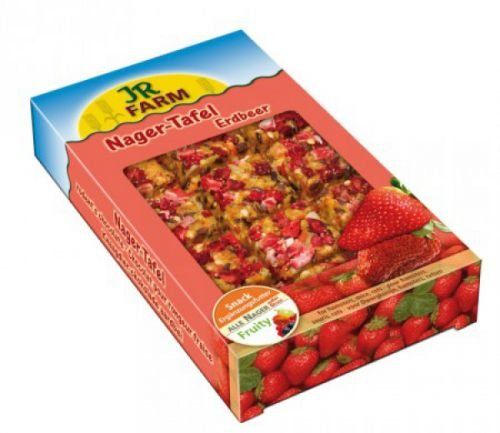 JR Nager-Tafel Erdbeer 125g / 15x9cm 7er Pack - Jr-erdbeere