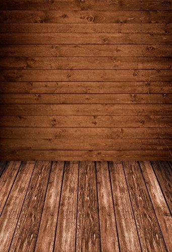 konpon 150x 220cm braun Holz Boden Baumwolle Polyester Fotografie Hintergrund waschbar Neugeborene Foto Studios Baby Requisiten Hochzeit Hintergrund Drop kp-388
