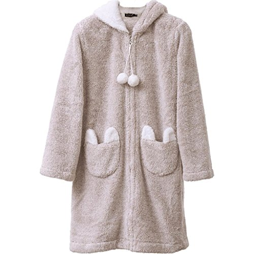 Bathrobe ZLR Autumn And Winter Sexy Fashion Cute Cartoon Nightgown Ladies Long-sleeved Pajamas