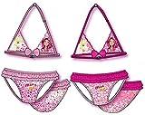 Mia und me Bikini Beach Badeanzug mit Schleife Voilant Mädchen Offizielles oe6039Box transparent rose pink Größe: 3/4Anni
