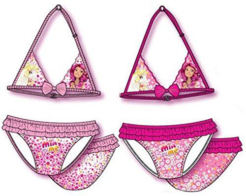 Mia and Me Costume Bikini Mare Piscina Con Voilant e Fiocchetto Bambina in Box Trasparente Prodotto Ufficiale OE6039 [3/4 anni - Rosa]