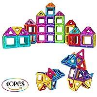 SUPRBIRD bloques magnéticos juguete conjunto es un gran juguete, Si usted está buscando una manera de desarrollar la relación con su hijo, este regalo es una buena opción! Los bloques magnéticos son fáciles de conectar y nunca repelen. Con dos forma...
