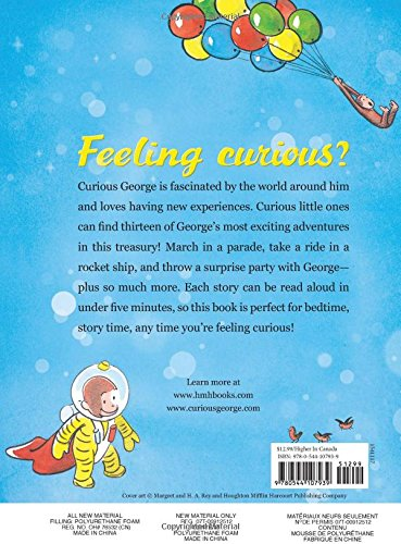 Image of Curious George's 5-Minute Stories (Curious George (Houghton Mifflin))