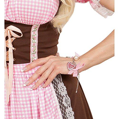 Oktoberfest Trachtenarmband Wiesn Armschmuck Trachten Armkette Dirndl Armband Karneval Kostüm Damen Accessoires Herz Perle Brezel Trachtenschmuck Bayern Arm Schmuck