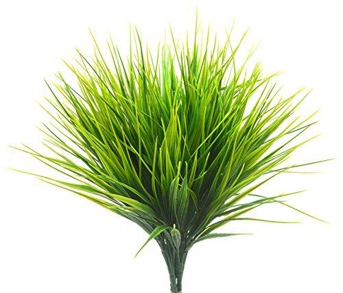 Bird FIY Kunststoff-Weizengras, künstliche Blätter, Sträucher, für Innen und Außen, für Haus, Garten, Büro, Veranda, Hochzeitsdeko; 4 Stk. (Indoor-gras Fake)