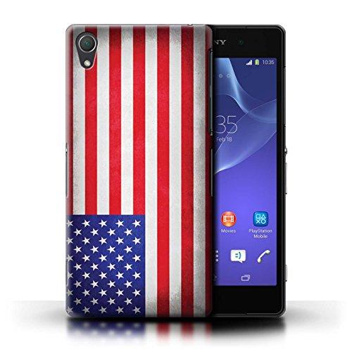 Kobalt® Imprimé Etui / Coque pour Sony Xperia Z2 / Portugal/portugais conception / Série Drapeau Amérique/americain