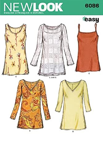 New Look A 10-12-14-16-18-20-22 Sewing Pattern 6086