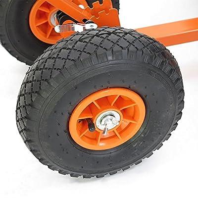 FUXTEC Schneeschaufel Schneeschieber mit Rädern Schneefräse