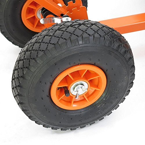 FUXTEC Schneeschaufel Schneeschieber mit Rädern Schneefräse - 7