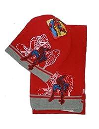 Winterset Spiderman Mütze+Schal rot