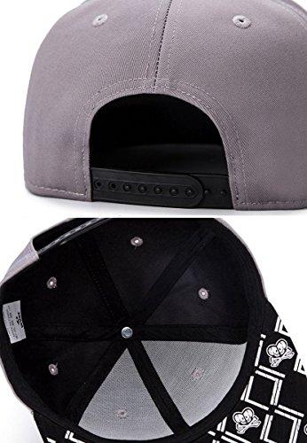 ce5d017334a5c Aivtalk - Hip Hop Gorra de Béisbol Sombrero Plano Moda con Bordado.
