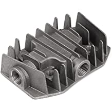 Alluminio compressore d'aria Testata 19 millimetri 1 / 2BSP femmina filo grigio