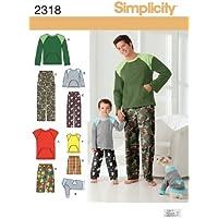Simplicity 2318 - Patrones de costura para pantalones de niño y hombre y para ropa de perro (tallas L y XL)