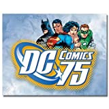 Poster DC Comics 75th Anniversary Tin Sign, 16x12 by Discount