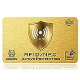 Carte Anti RFID/NFC Protection carte bancaire sans contact, 1 suffit, fini les étuis et pochettes, le portefeuille est entièrement protégé, carte de crédit, cartes bleues, CB, passeport. Bloquage RF