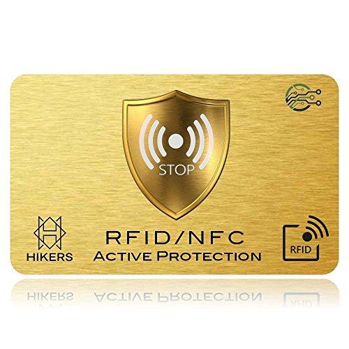 Carte Anti RFID / NFC Protection carte bancaire sans contact, 1 suffit, fini les étuis et pochettes, le portefeuille est entièrement protégé, carte de...