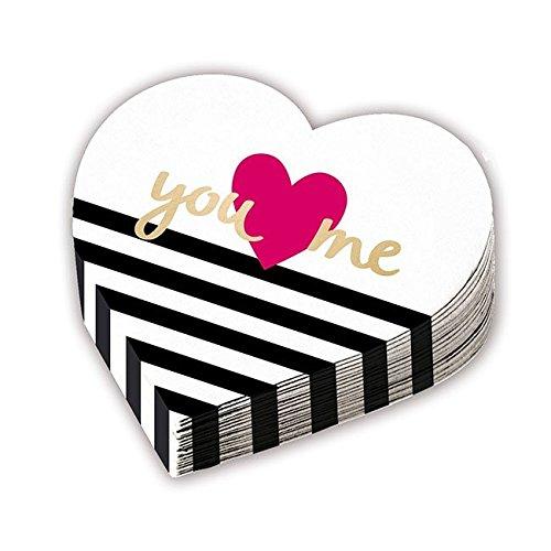 12tovaglioli * you ❤ me * a forma di cuore per matrimonio e san valentino//party napkins motto vermaehlung trauung love amore