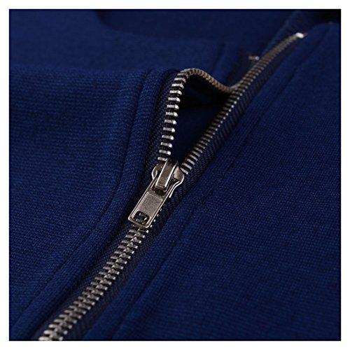Miusol Vintage Kleid Karree-Ausschnitt 3/4 Arm Cocktailkleid Business Kleid, Blau - 6