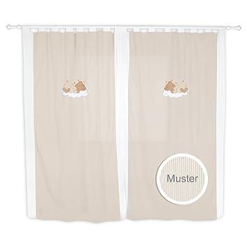 Kinderzimmer gardinen / vorhänge von sleeping bear in 5 farben ...