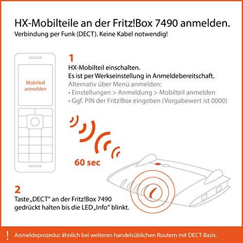 Gigaset C430HX Telefon – Schnurlostelefon / Mobilteil – mit TFT-Farbdisplay – für DECT / CATiq Router – Freisprechfunktion – IP Telefon – Schwarz - 3