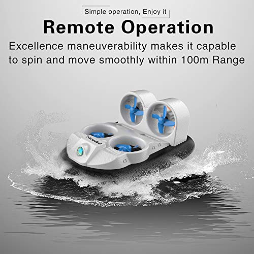 Walmeck- Mirabroot GV160 LED EPP 2.4G High Speed   Bodeneffekt Amphibien Anti-Crashed RC Boot Fahrzeug Hovercraft