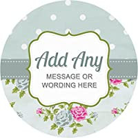Shabby Chic Hen Party Green Sticker Labels Personalised Seals Ideal for Party Bags, Sweet Cones, Favours, Jars, Presentations Gift Boxes, Bottles, Crafts