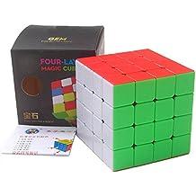 HJXDtech® Nuevo Speed Cube! Cubo mágico de la serie creativa de la gema, depuración profesional con superficie helada cóncava (4x4x4)