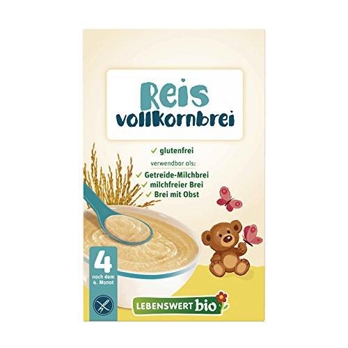 Lebenswert bio Reis Vollkornbrei, 6er Pack (6 x 225 g)