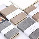 Seasiant India 32k 128 Sheets Portable Notebook Blank Paper Linen Cover Diary Memo Sketchbook Office School Single Item
