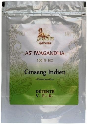 ASHWAGANDHA (Withania somnifera) BIO en poudre (100 g) - Plante Ayurvédique Traditionnelle Détente