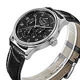 PARNIS Complication 2110 Automatik Herrenuhr Edelstahl-Armbanduhr Lederarmband MIYOTA Schnellschwinger Kaliber 9100 mit Vollkalender und Gangreserve-Anzeige - 3