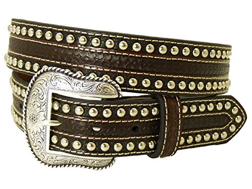 Nocona USA Western Gürtel Cowboy Cowgirl Maroon L (Nocona Braun Gürtel)