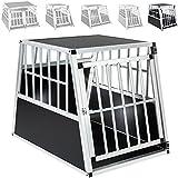 TecTake Cage Box Caisse de Transport pour Chien Mobile Aluminium - diverses tailles au choix - (Simple/grand/inclinée | No. 401623)