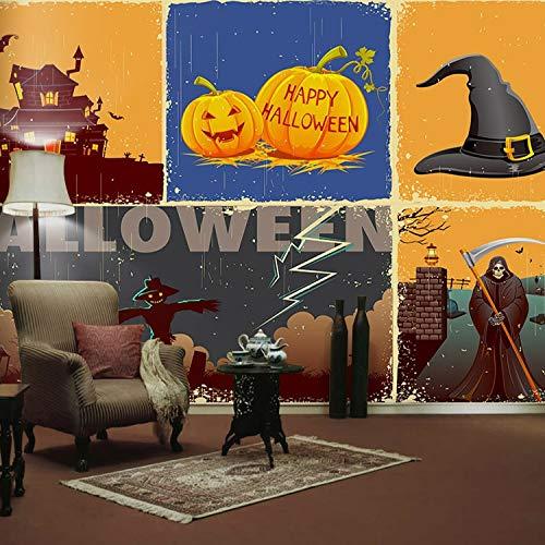 een Kürbis Festival Papier Wandbild 3D Wandbild Tapete Film für Sofa Hintergrund 3D Fototapeten Wallpaper-200x140cm ()