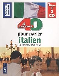 COFFRET 40 LECONS POUR PARLER ITALIEN LIVRE + 2CD (ancienne édition)