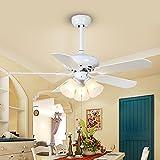 Europäische Traditionelle LED Ventilator Licht 42 Zoll 1070MM  Deckenventilator Licht Warmen Schlafzimmer Kinderheim Ventilator  Kronleuchter
