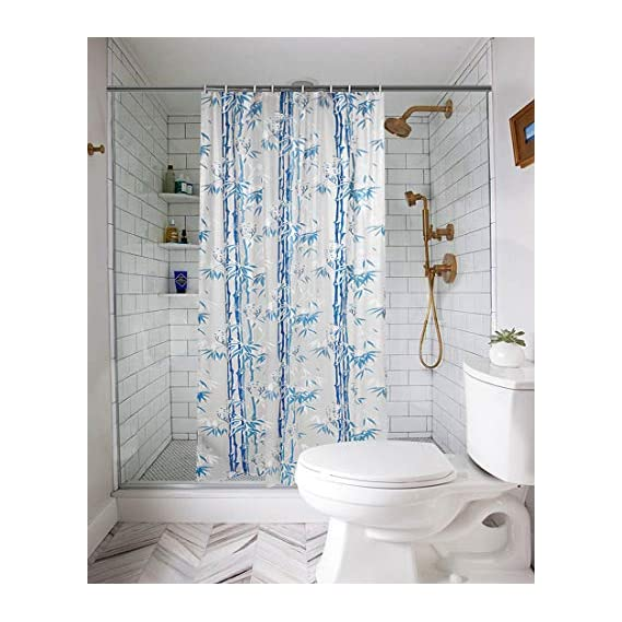 ARADENTTM Waterproof Shower Curtain for Bathroom with 8 Hooks(Set Content : 1 Shower Curtain Set)