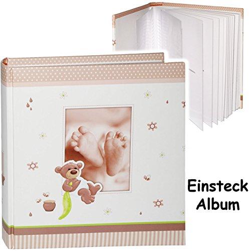 grosses-einsteckalbum-memoalbum-fotoalbum-susser-teddy-bar-babyfusse-bis-zu-200-bilder-fotos-gebunde