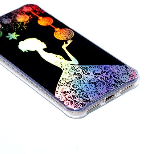 3pcs Caso Morbida per iPhone 7 / 8, Asnlove TPU Silicone Gel Custodia Ultra Sottile Electroplated Cassa Placcatura Modello Colore Cover Antiurto Gomma Elegante Case Posteriore, Gruppo-3 Colore-4