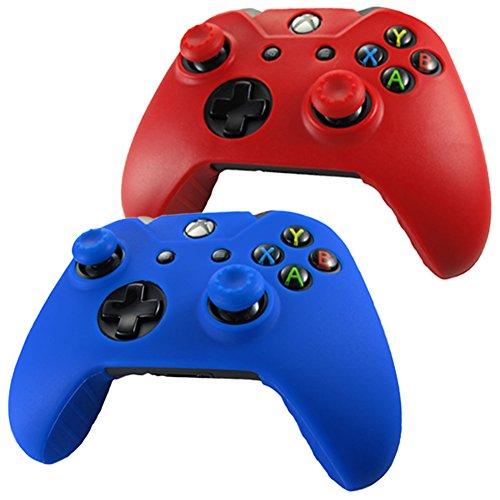 pandarenr-pelle-cover-skin-per-il-xbox-one-controller-x-2-pollice-presa-x-4-rosso-blu