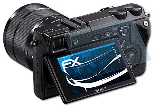 3 x atFoliX Displayschutzfolie Sony NEX-7 Schutzfolie - FX-Clear kristallklar