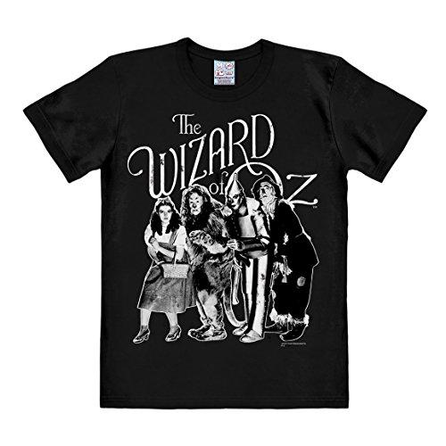 LOGOSHIRT - T-Shirt Herren Wizard of Oz - Dorothy & Freunde - schwarz - Lizenziertes Originaldesign, Größe 3XL (Herren Wizard Of Oz Kostüme)