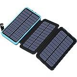 Best Accessoire Usb Power Batteries rechargeables - FEELLE Chargeur Solaire 24000mAh Power Bank avec 3 Review