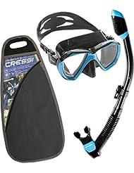 Cressi Professional Erwachsene Schnorchel Set ,Taucherbrille mit Schnorchel