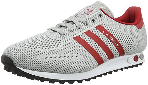 adidas Herren LA Trainer EM Sneakers, Grau (Clear Onix/Power Red/FTWR White), 48 2/3 EU
